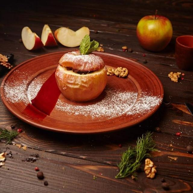 Baked Apple with Apricots