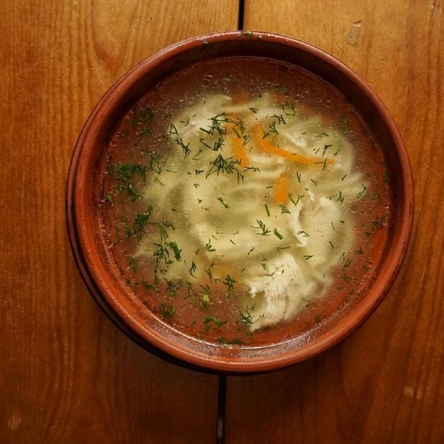 Chicken Broth and Noodles