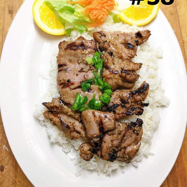 58.	Grilled Chicken Steamed Rice