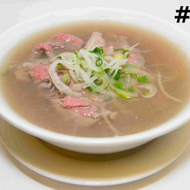 41.	Medium Rare Beef Noodle Soup