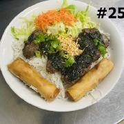 25.  Tropical Leaf Beef Roll and Spring Rolls
