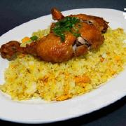 67.  Deep Fried Chicken on Fried Rice
