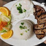 52.	Grilled Pork Chop & Egg on Steamed Rice