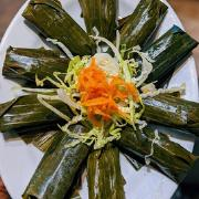 7. Pork and Shrimp Tapioca Dumpling Wrapped in Banana Leaf